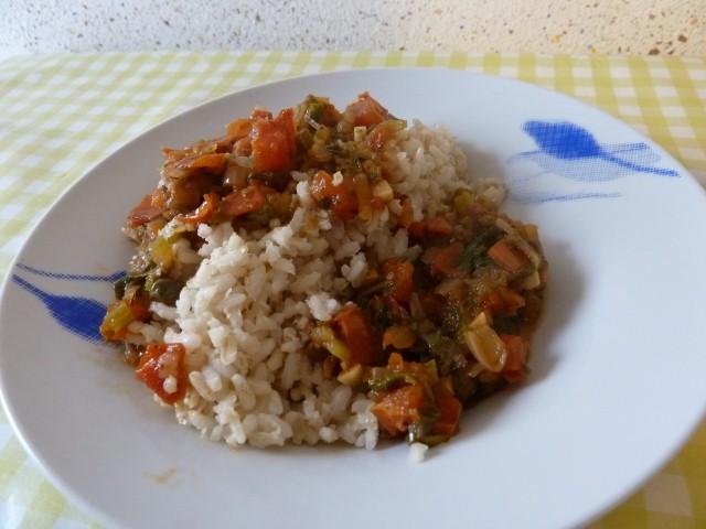 compotee tomates riz