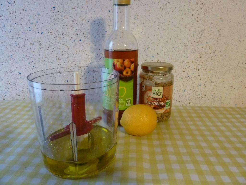 ingredients vinaitrette