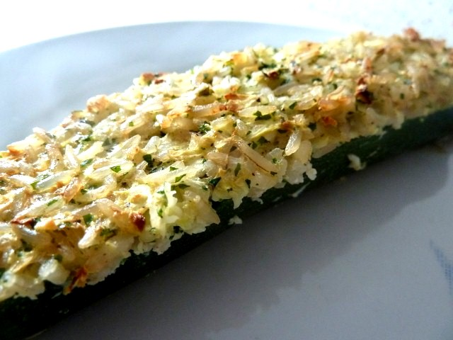 courgette farcie gros plan