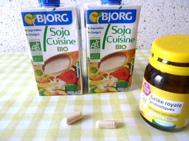 crème soja probiotiques
