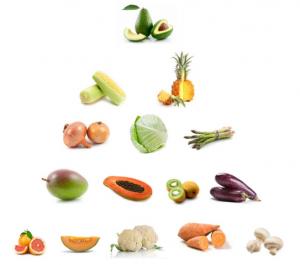 Fruits et légumes les moins traités