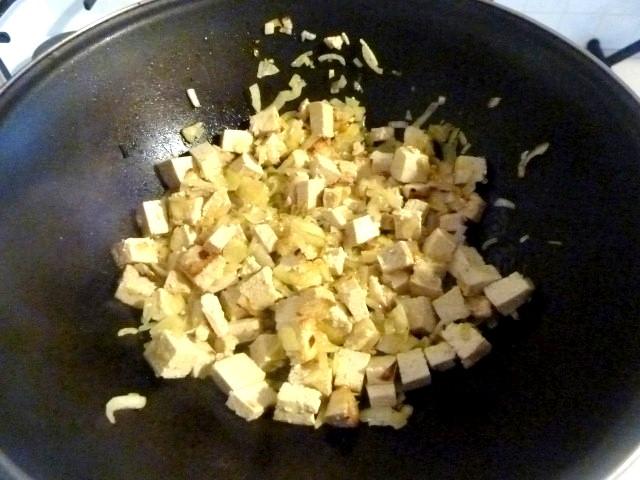 tofu oignons