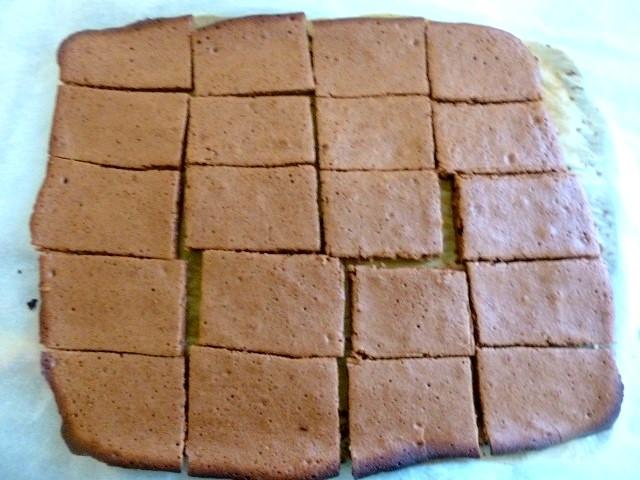 biscuit chocolat découpé