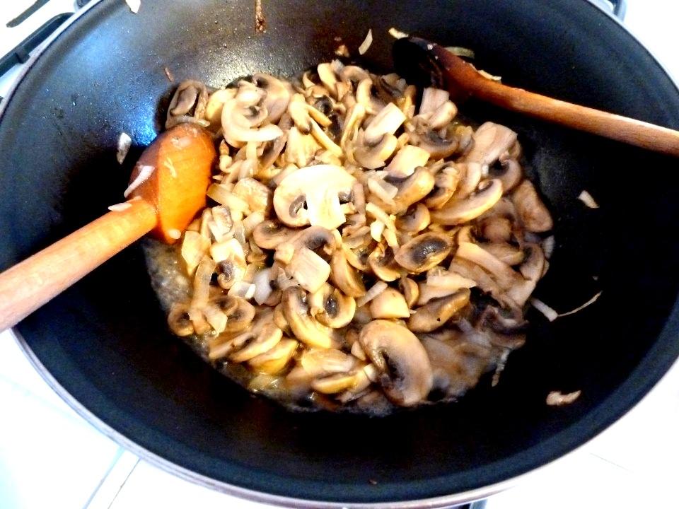 réduction des champignons à la cuisson