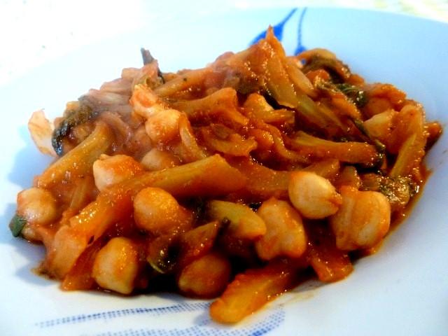 Assiette Fenouil Pois Chiches