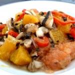 recette salade agrumes champignons