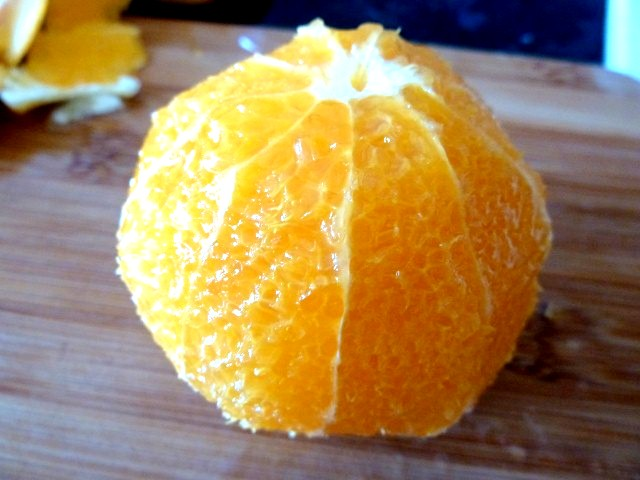 orange pelée à vif