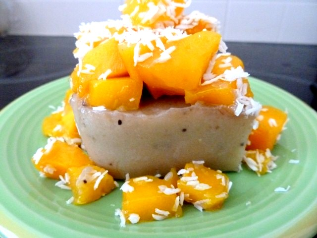 flan banane et mangue coco