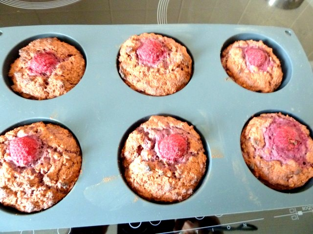 Muffins Framboise Cuits