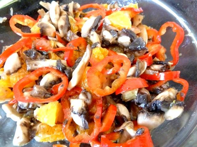 Salade Champignons Agrumes