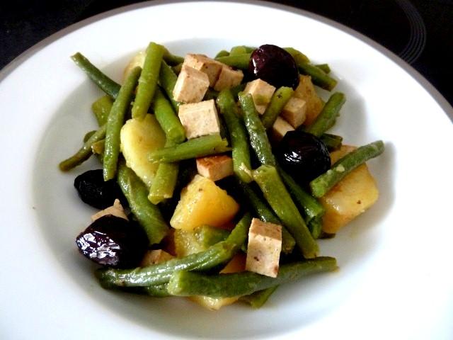 recette haricots verts tofu