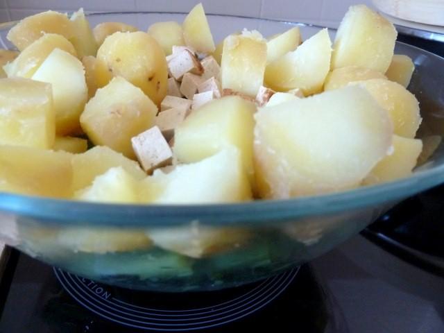 haricots patates tofu