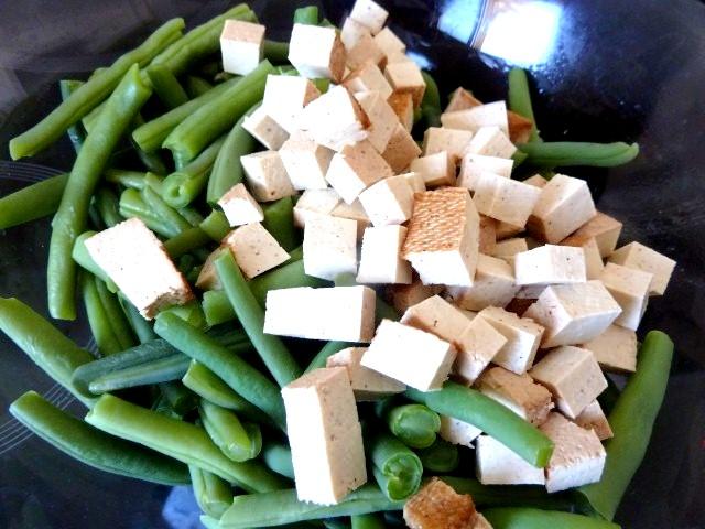 haricots verts tofu