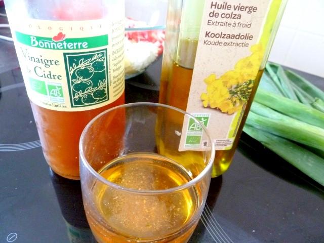 huile colza vinaigre cidre