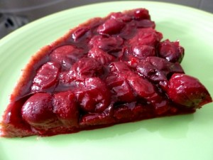 recette tarte crue aux cerises