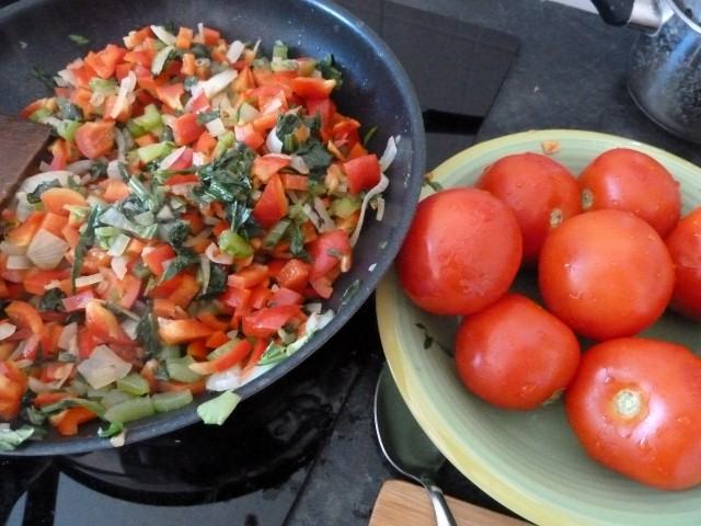 Ingredients Poivrons Tomates Celeri