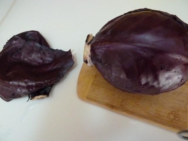 Chou rouge cru a la creme persillee recette de cuisine - Cuisiner un chou rouge ...