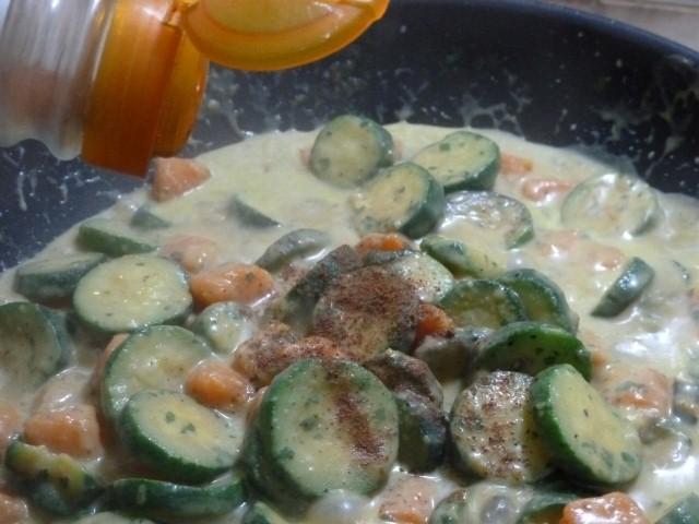 assaisonnement patates douces courgettes