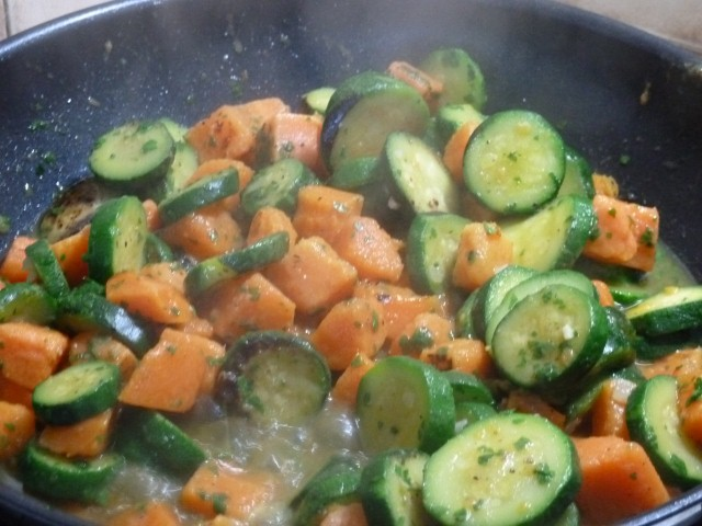 wok courgettes patates douces