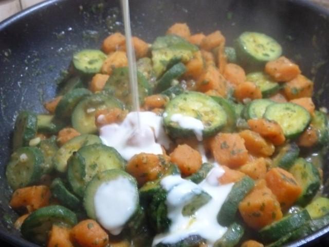 wok patates douce lait vegetal