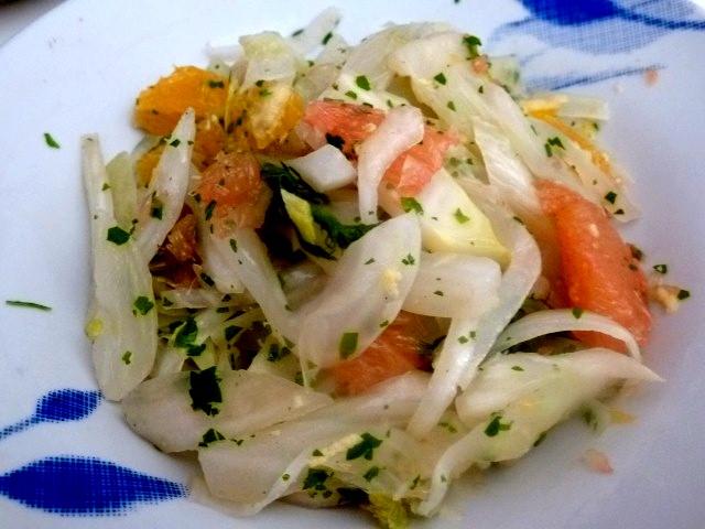 assiette de fenouil aux agrumes