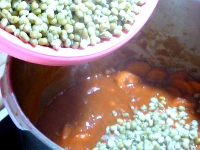 haricots mungo aux carottes