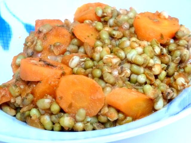 assiette haricots aux carottes