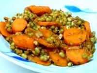 assiette carottes et haricots mungo