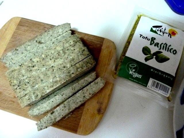 tofu au basilic