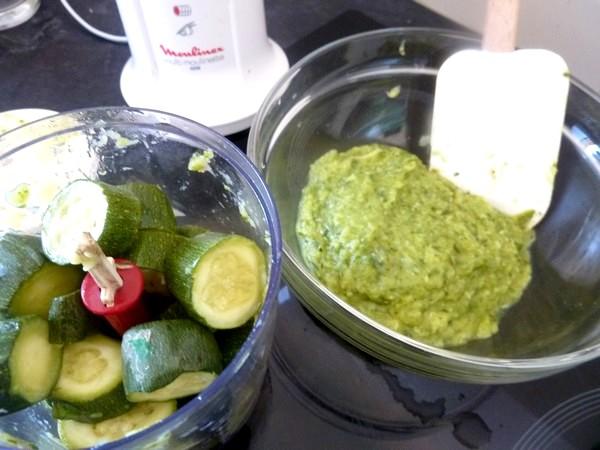 tarte aux courgettes mixer cougettes