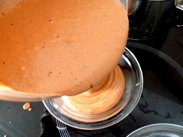 mousse chocolat au lait coco verser coupe