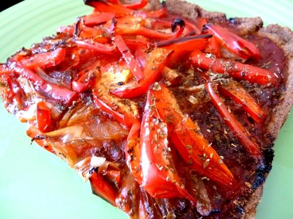 pizza poivron rouge oignon part individuelle