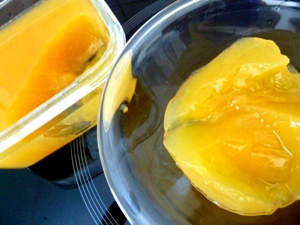gelee orange artichaut dessert frais