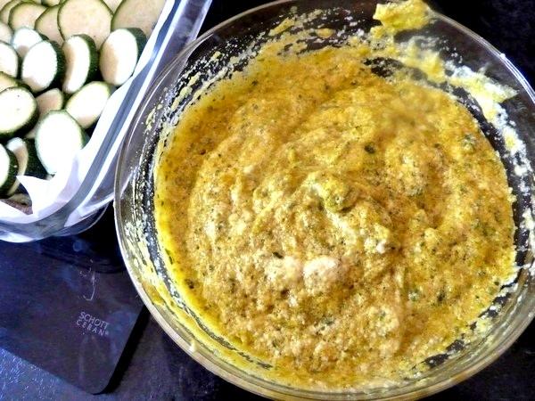 tarte aux courgettes mousse