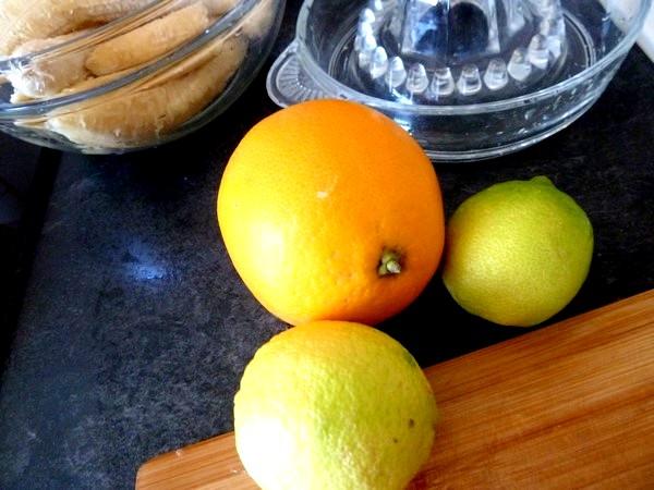 flan banane agrume aux epices orange citron