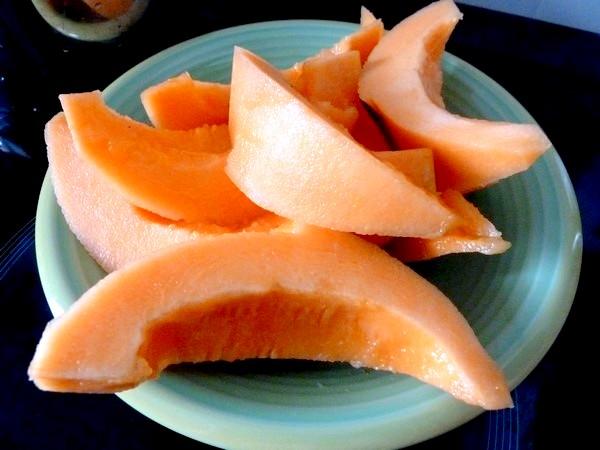melon avocat en gelee citron couper melon