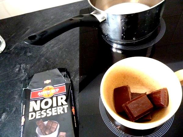 mousse chocolat au lait coco carreaux