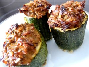 courgettes facies assiettes