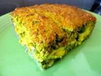 tarte aux courgettes servir