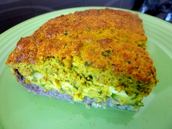 tarte aux courgettes assiette