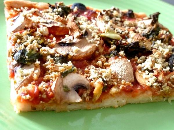 pizza green assiette