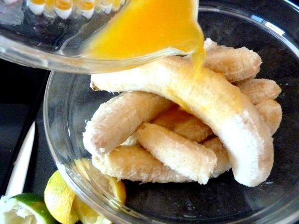 flan banane agrume aux epices jus orange