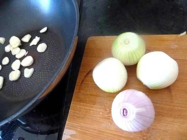 poivrons jaunes aux oignons ciseles
