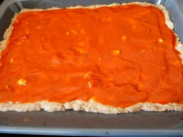 pizza poivron rouge oignon sauce tomate