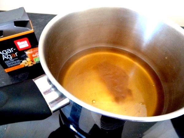 gelee orange artichaut agar agar