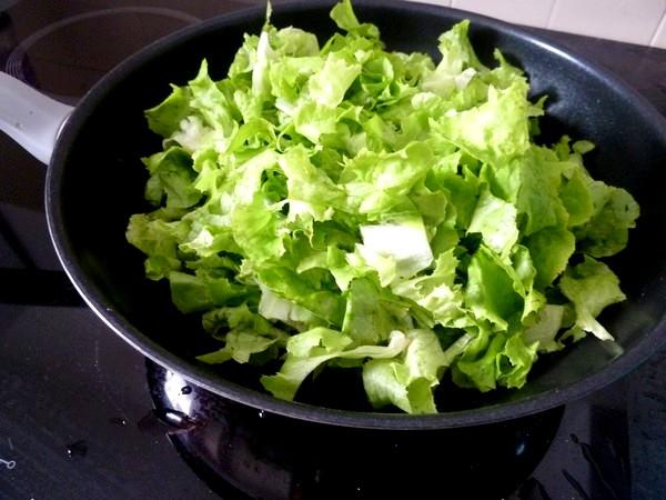 pizza green salade