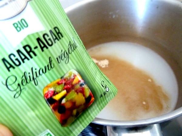 flan banane agrume aux epices agar agar lait coco