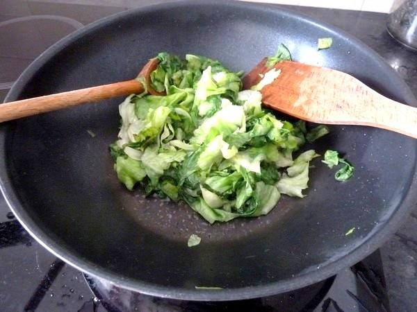 pizza green salade réduite