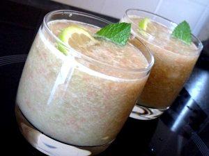 smoothie melon vert pamplemousse citron menthe