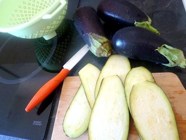 aubergines aux olives et graines cajou